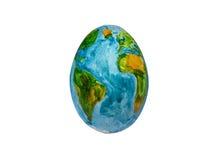De prachtige wereld van breekbare Aarde in de vorm van ei Stock Afbeeldingen