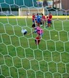 De praktijk van het voetbal Stock Fotografie