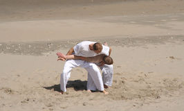 De Praktijk van Jitsu van Jiu Stock Foto's