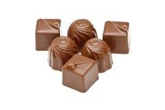 De pralines van de chocolade Stock Afbeeldingen
