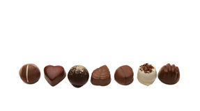 De pralines van de chocolade Royalty-vrije Stock Afbeeldingen
