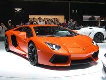 De première van Aventador van Lamborghini stock afbeelding