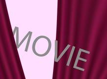 De première van de bioskoopfilm, ontwerp Achtergrond met rode gordijnen vector illustratie
