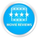 De premie cyaan blauwe ronde knoop van filmoverzichten Royalty-vrije Stock Afbeelding