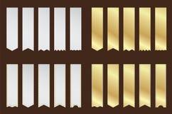 De premie etiketteert en beweegt het kunstwerk vectorontwerp Stock Afbeeldingen