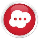 De premie rode ronde knoop van het hersenenpictogram Royalty-vrije Stock Foto's