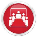De premie rode ronde knoop van het vergaderzaalpictogram royalty-vrije illustratie