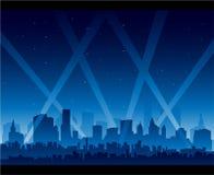 De première van de het nachtlevenfilm van de stad Stock Foto