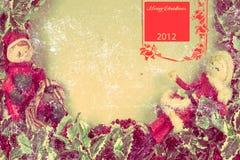 De prentbriefkaar 2012 van Kerstmis stock fotografie