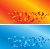 de prentbriefkaar van 2008 Stock Foto