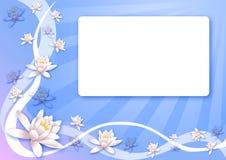 De prentbriefkaar van bloemen stock illustratie
