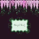 De prentbriefkaar van bloemen Royalty-vrije Stock Afbeeldingen
