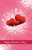 De prentbriefkaar van de Dag van de gelukkige Valentijnskaart Royalty-vrije Stock Foto
