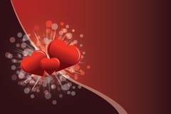 De prentbriefkaar van de Dag van de valentijnskaart Stock Fotografie
