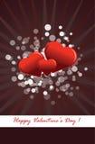 De prentbriefkaar van de Dag van de valentijnskaart Royalty-vrije Stock Afbeelding