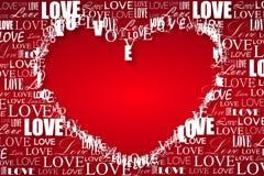 De prentbriefkaar van de Dag van de valentijnskaart Royalty-vrije Stock Foto's