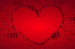 De prentbriefkaar van de Dag van de valentijnskaart Stock Foto