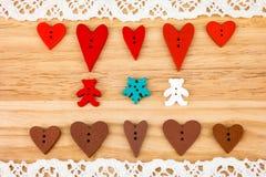 De prentbriefkaar van de Dag van de valentijnskaart Huwelijk Royalty-vrije Stock Foto's