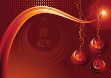 De prentbriefkaar van de geboorte van Christus Stock Afbeeldingen