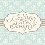 De uitnodiging van het huwelijk met abstracte bloemenachtergrond Stock Afbeelding
