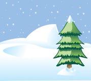 De Prentbriefkaar van de kerstboom Royalty-vrije Stock Foto