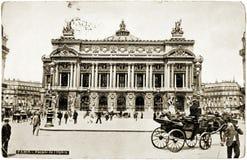 De prentbriefkaar van de Opera van Parijs Royalty-vrije Stock Afbeelding