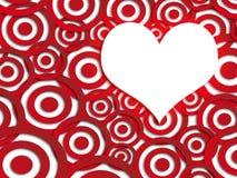 De prentbriefkaar van de valentijnskaart Stock Fotografie