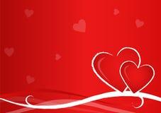 De Prentbriefkaar van de valentijnskaart stock illustratie
