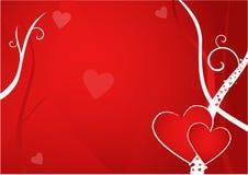 De Prentbriefkaar van de valentijnskaart Stock Afbeelding