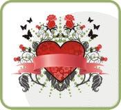 De prentbriefkaar van de valentijnskaart Royalty-vrije Stock Foto