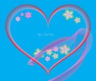 De prentbriefkaar van de valentijnskaart. Plaats voor tekst. Stock Fotografie