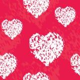 De prentbriefkaar van de valentijnskaartendag Stock Foto's