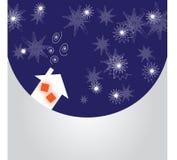 De prentbriefkaar van de winter Royalty-vrije Stock Afbeeldingen