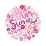 De prentbriefkaar van de zomer Stock Illustratie