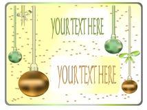 De prentbriefkaar van december Stock Foto