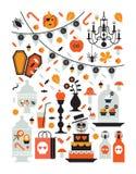 De prentbriefkaar van Halloween Stock Foto's