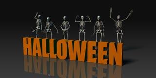 De prentbriefkaar van Halloween Stock Foto