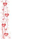 De prentbriefkaar van harten Royalty-vrije Illustratie