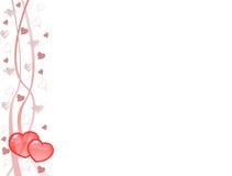 De prentbriefkaar van harten Vector Illustratie