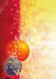 De prentbriefkaar van het nieuwe jaar met bal Royalty-vrije Stock Afbeelding