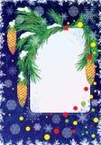 De prentbriefkaar van het nieuwjaar Royalty-vrije Stock Afbeelding