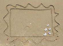 De prentbriefkaar van het zand Stock Foto's