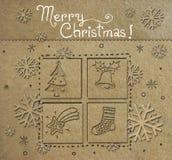 Kerstmisprentbriefkaar stock fotografie