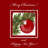 De prentbriefkaar van Kerstmis Stock Foto's