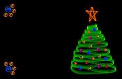 De prentbriefkaar van Kerstmis vector illustratie