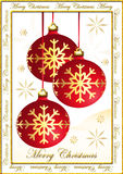 De prentbriefkaar van Kerstmis Royalty-vrije Stock Afbeelding