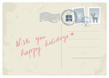 De prentbriefkaar van Kerstmis Royalty-vrije Stock Foto's