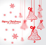 De prentbriefkaar van Kerstmis Stock Foto