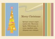 De prentbriefkaar van Kerstmis Stock Afbeelding