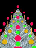 De Prentbriefkaar van Kerstmis of van het Nieuwjaar royalty-vrije stock afbeeldingen